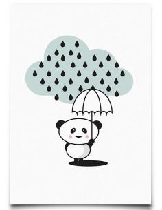 carte-postale-panda-rain-eef-lillemor