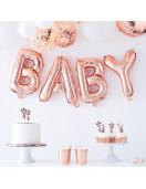 ballon-lettre-rose-gold-baby-decoration-baby-shower-bapteme