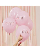 5 Ballons Roses Personnalisation Rose Gold