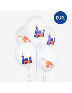 5 Ballons Chevalier et Dragons My Little Day