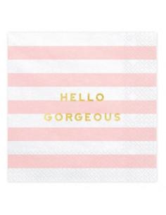 serviettes-rayures-rose-pastel-deco-baby-shower-bapteme-anniversaire-mariage