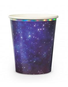 8 gobelets imprimé Galaxie