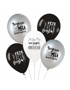 "5 ballons ""Joyeux anniversaire"""