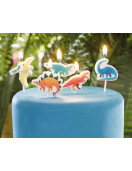5-bougies-dinosaures-multicolores-deco-gateau-anniversaire-dinosaures