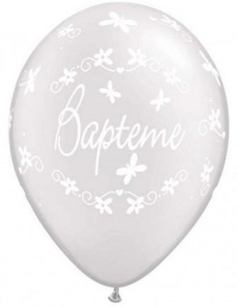 Ballons Baptême Imprimés Latex